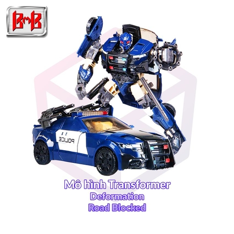 Mô hình Transformer Black Mamba Deformation H8001-5 Road Blocked [TFM]