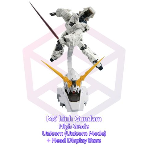 Mô Hình Gundam Daban HG 101B Unicorn (Unicorn Mode) + Head Display Base [3GD]