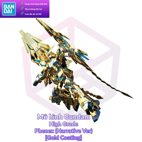 Mô Hình Gundam Bandai HG 216 Unicorn Gundam 03 Phenex (Destroy Mode) (Narrative Ver) [Gold Coating] [GDB] [BHG]