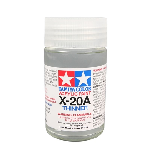 Tamiya Acrylic X-20A Thinner 46ml [81030]