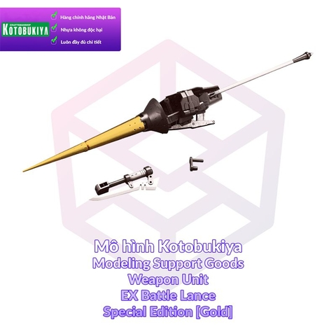 Mô hình Kotobukiya M.S.G Weapon Unit 08EX Battle Lance Special Edition (Gold) [KTB] [MSG]