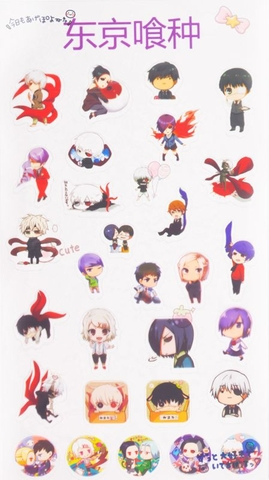 Sticker Anime trong suốt chibi - Tokyo Ghoul [AAM] [PGN30]
