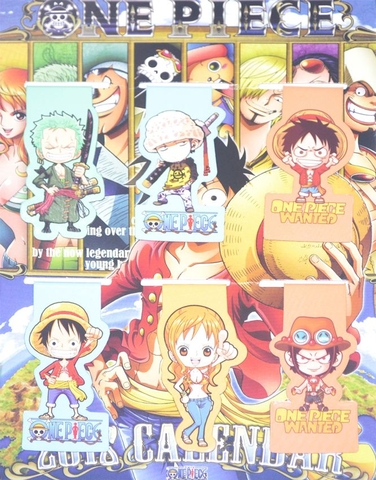 Bộ 6 Bookmark nam châm - One Piece