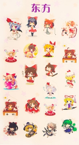 Sticker Anime trong suốt chibi - Touhou Project [AAM] [PGN30]