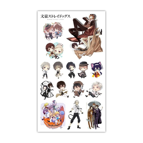 Sticker Tattoo hình xăm - Bungo Stray Dogs L2