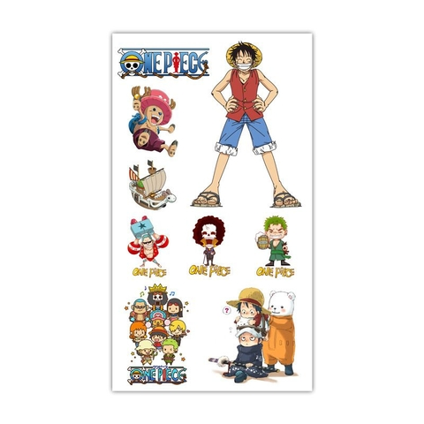 Sticker Tattoo hình xăm - One Piece L2