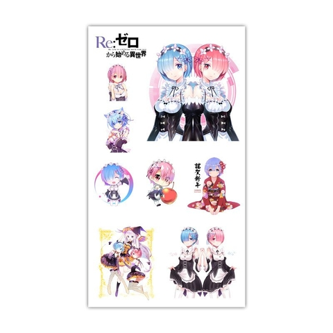 Sticker Tattoo hình xăm - Re:zero L2