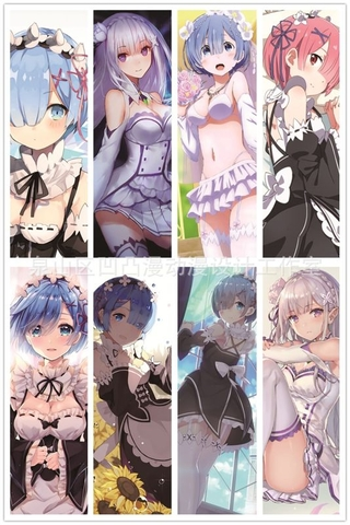 Bộ 6 Bookmark nam châm - Re:zero