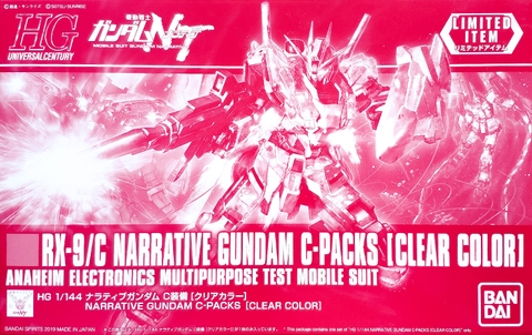 Mô hình Gundam Bandai HG UC Narrative Gundam C-Packs [Clear Color] [GDB] [BHG]