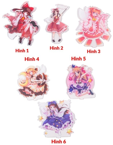 Standee Tượng mica Anime acrylic cao 15cm hình Touhou Project [AAM] [PGN20]