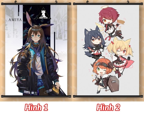 Poster lụa, Poster vải, tranh lụa Anime 40x60cm - Arknights [AAM] [PGN23]
