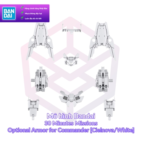 Mô hình Bandai 30MM Optional Armor for Commander [Cielnova/White] [30MM]