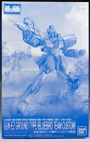 P-Bandai RE 1/100 Gun-Ez Ground Type [BLUEBIRD TEAM COLORS]