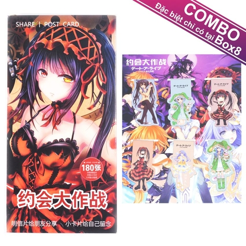 Bookmark nam châm + Postcard to Date A Live [CB]