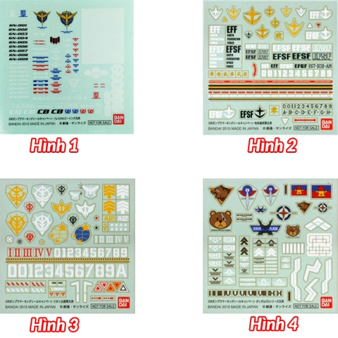 Bandai Decal Campaign For HG RG MG