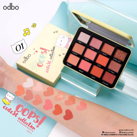 [New] Phấn Mắt 12ô Odbo Oops Cutest Collection OD212
