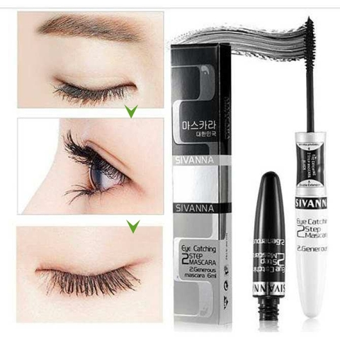 "MASCARA DÀI MI 300% ""2 ĐẦU SIVANNA EYE CATCHING 2 STEP"""