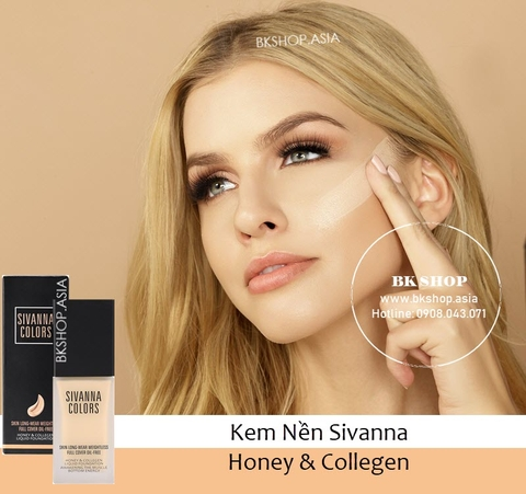 Kem Nền Siêu Lì Sivanna Colors Honey & Collegen Liquid HF4012
