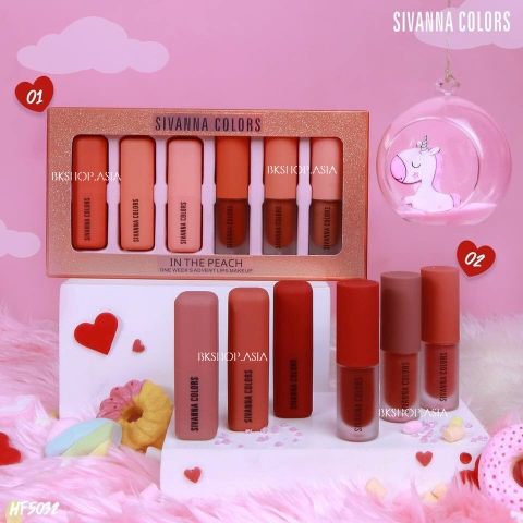 [6 Cây] Set Son Lì Sivanna Colors One Week's Advent Lips Makeup HF5032