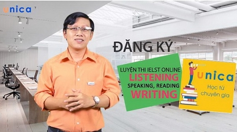 Luyện thi IELTS online: listening, speaking, reading, writing - Unica