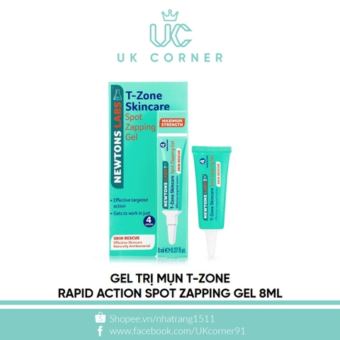 Gel trị mụn T Zone Skin Rescue Spot Zapper 8ml