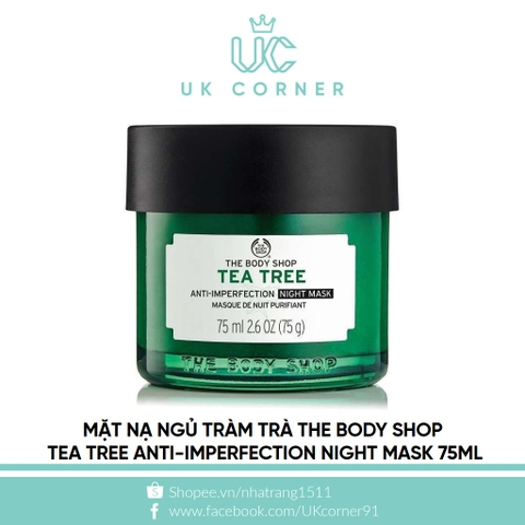 Thebodyshop Tea Tree Anti-Imperfection Night Mask 75mL