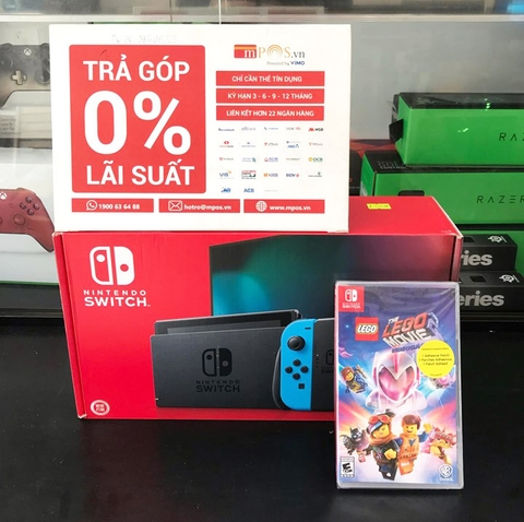 Nintendo Switch-Neon 2019 + Game The Lego Movie 2 Videogame