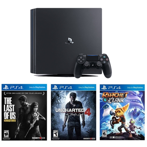 Playstation 4 Pro 1TB Bundle The Last Of Us, Ratchet & Clank, Uncharted 4 A Thief's End