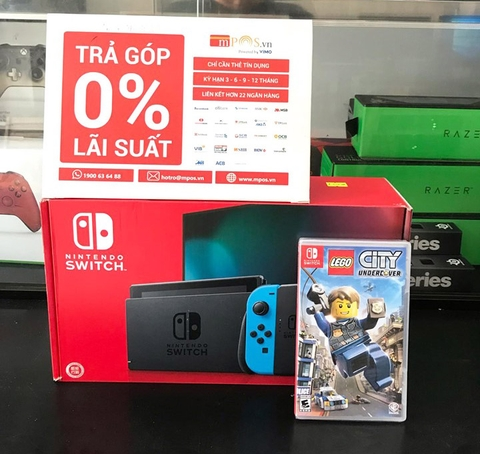 Nintendo Switch-Neon 2019 + Game LEGO City: Undercover