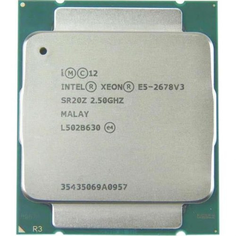CPU Intel Xeon Processor E5-2678 V3 (2.50 turbo 3.1GHz / 12Cores / 24 Thread)