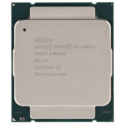 CPU Intel Xeon E5-2680 v3 (2.50GHz turbo up to 3.30GHz, 12 nhân, 24 luồng, 30MB Cache, 120W)