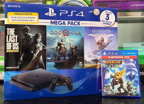 Playstation 4 Slim 1TB Bundle God of War, Horizon Zero Dawn, The Last of Us, Ratchet & Clank