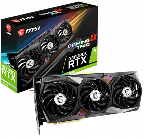 VGA MSI GEFORCE RTX 3070 GAMING X TRIO 8GB GDDR6