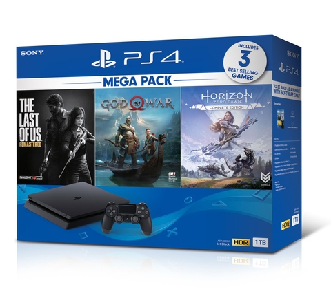 Playstation 4 Slim 1TB Bundle God of War, Horizon Zero Dawn, The Last of Us