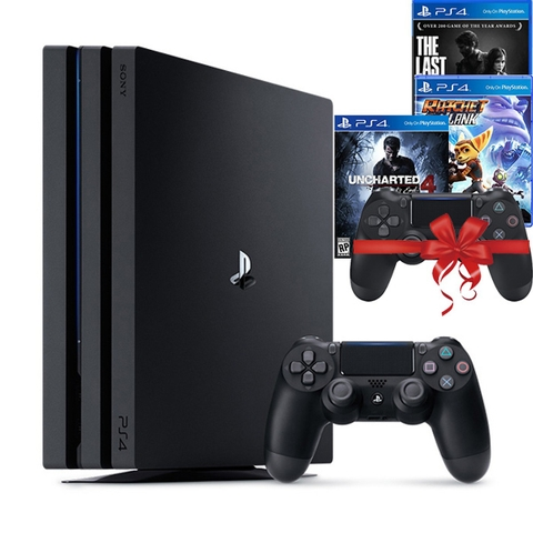 Playstation 4 Pro 1TB Bundle The Last Of Us, Ratchet & Clank, Uncharted 4 A Thief's End và 1 Tay cầm