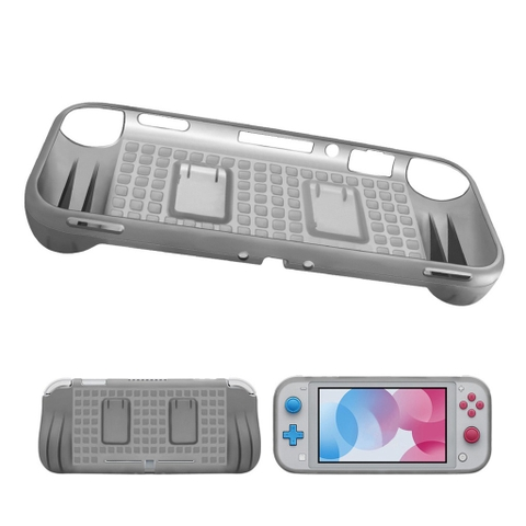 TPU Protector for Nintendo Switch Lite with 2 Game Card Slots - Gray