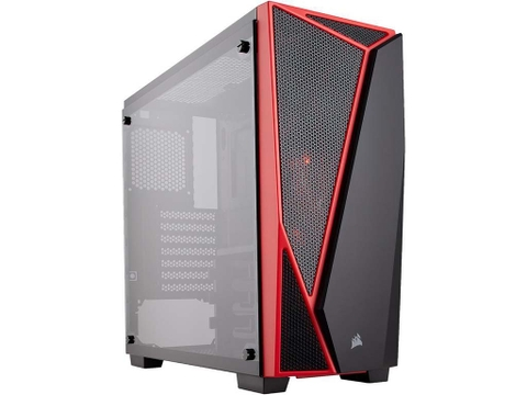 Vỏ case Corsair Carbide Series SPEC-04 Termpered Glass - Black & Red
