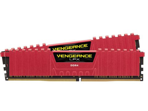 Ram Corsair VENGEANCE® LPX 16GB (2 x 8GB) DDR4 DRAM 2666MHz C16 Memory Kit - Red