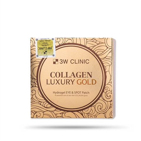 Mặt Nạ Mắt Collagen Luxury Gold 3W Clinic (90g/60 Cái)