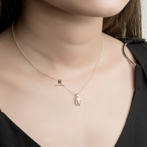 E STUD NECKLACE BUTTERFLY SET