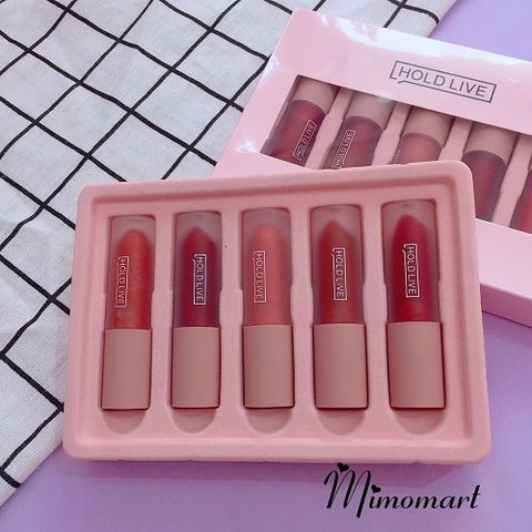 Son kem Holdlive Light Matte Lip Glaze Suit set5 màu