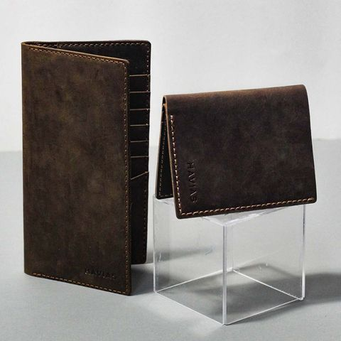 Couple Ví Venuta & Venumi Handcrafted Wallet Brown