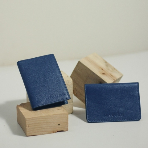 Couple Ví Harp & Gapple Handcrafted Wallet Navy