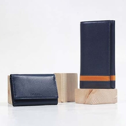 Couple Ví Heyday2 & Heart3 Handcrafted Wallet Blue