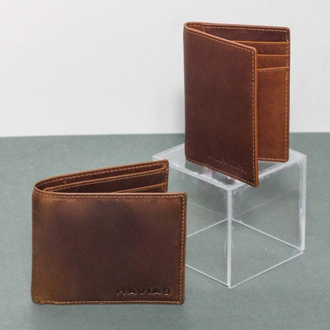 Couple Ví Enus & Gapple Handcrafted Wallet Brown