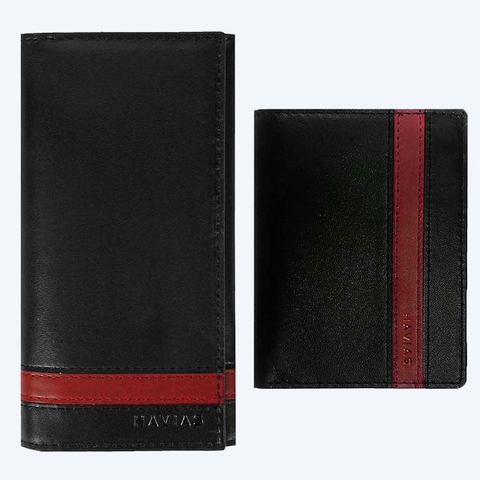 Couple Ví Heyday2 & Verzip2 Handcrafted Wallet Black