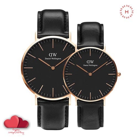 Daniel Wellington Classic Black Sheffield Couple 36mm/40mm