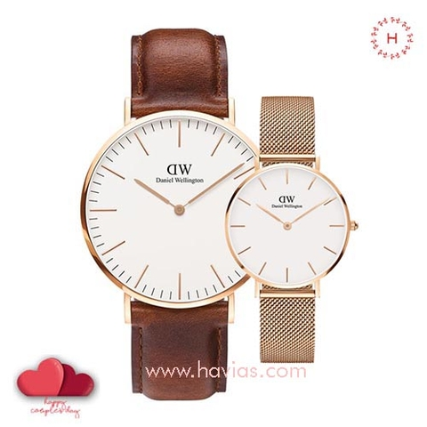 Daniel Wellington Classic ST Maves vs Petite Melrose White Couple 40mm/32mm