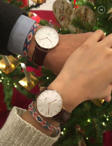 Daniel Wellington Classic Sheffield Couple Dây Da 36mm/40mm