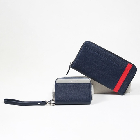 Couple Ví Mini Versa & The Viva Zipped Long Wallet Blue Navy